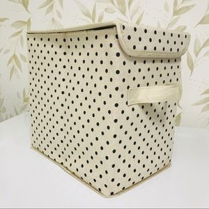 Other - Polka Dot Collapsible Storage Tote